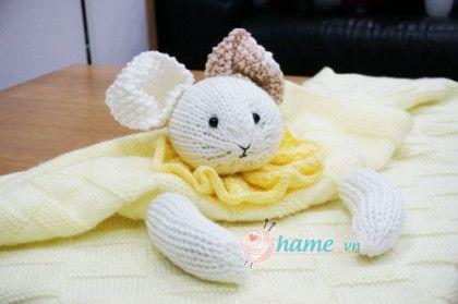 Hướng dẫn đan chăn thỏ 3 in 1