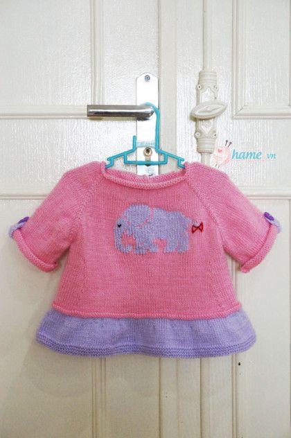 Hướng dẫn đan váy cho bé gái: Váy con voi