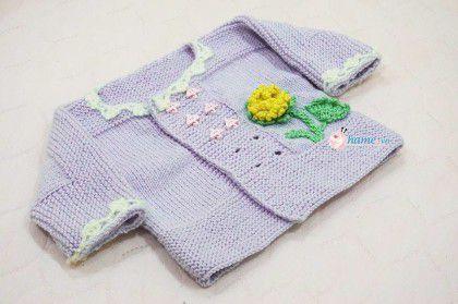 Hướng dẫn đan áo hoa cúc