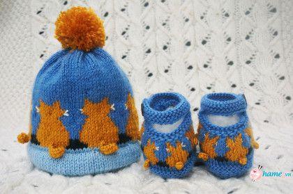 Hướng dẫn đan mũ mèo vàng cho bé