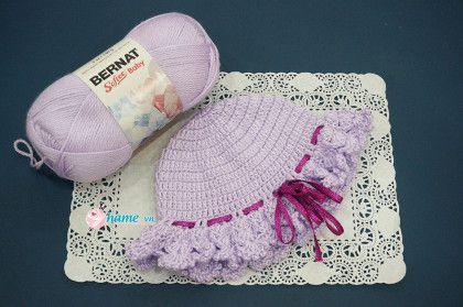 Hướng dẫn móc mũ cho bé gái- Mũ bé Kem