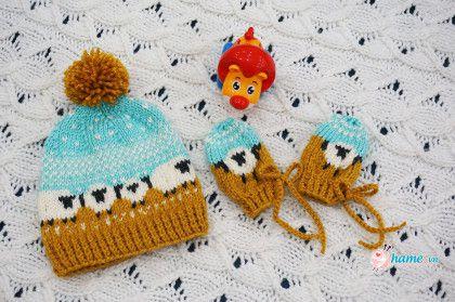 Hướng dẫn đan mũ – bao taycừu con[ cách đan gấu mũ không bai dão]