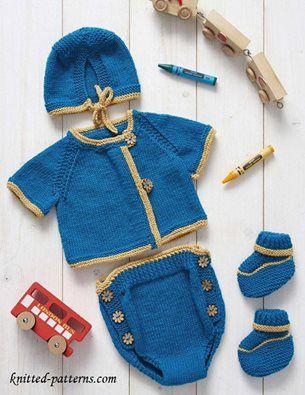 Hướng dẫn đan trọn bộ đồ sơ sinh cho bé( 3 cỡ)