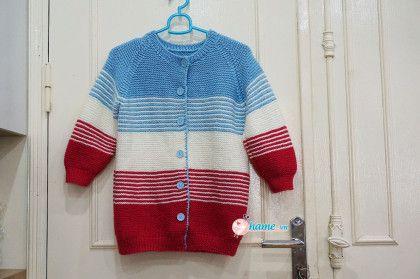 Hướng dẫn đan áo 3 màu( áo mẹ)