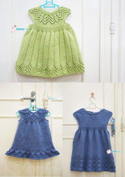 3 kiểu váy đan tuyệt đẹp cho bé trong đông này