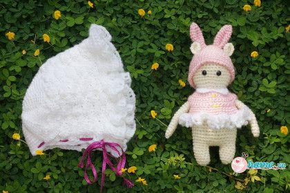 Set đồ cho bé sơ sinh:  Bộ  móc thỏ nhút nhít