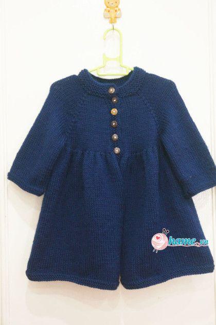 Đan áo khoác Sumi cho bé
