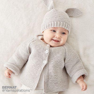 Sét đồ cho bé sơ sinh: Bộ đan thỏ tai dài