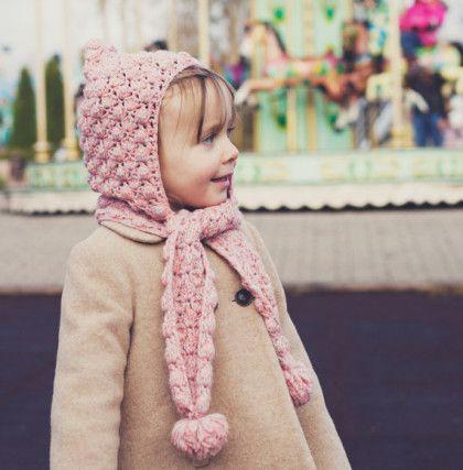 Hướng dẫn móc bộ khăn liền mũ bộ bé Chíp+ video rõ ràng