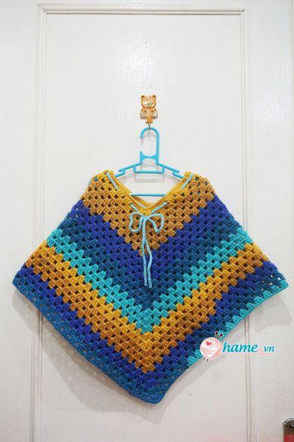 Hướng dẫn móc áo Poncho cho bé