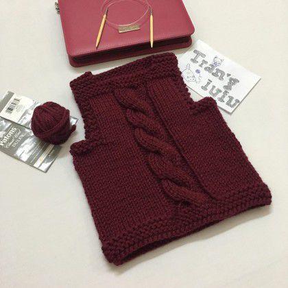 Hướng dẫn đan áo ghile Trang iuiu- thời gian hết 1 tối