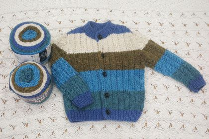Hướng dẫn đan áo cho bé từ len loang màu 16