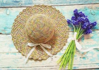 Hướng dẫn móc mũ vành sò đi biển