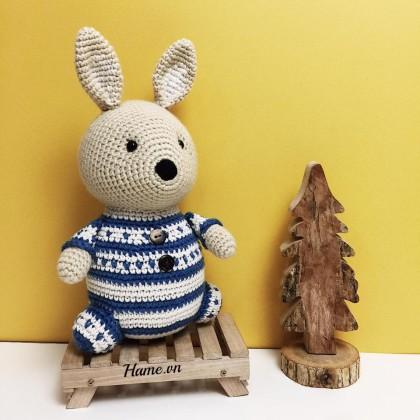 Hướng dẫn móc thỏ Henri béo ú